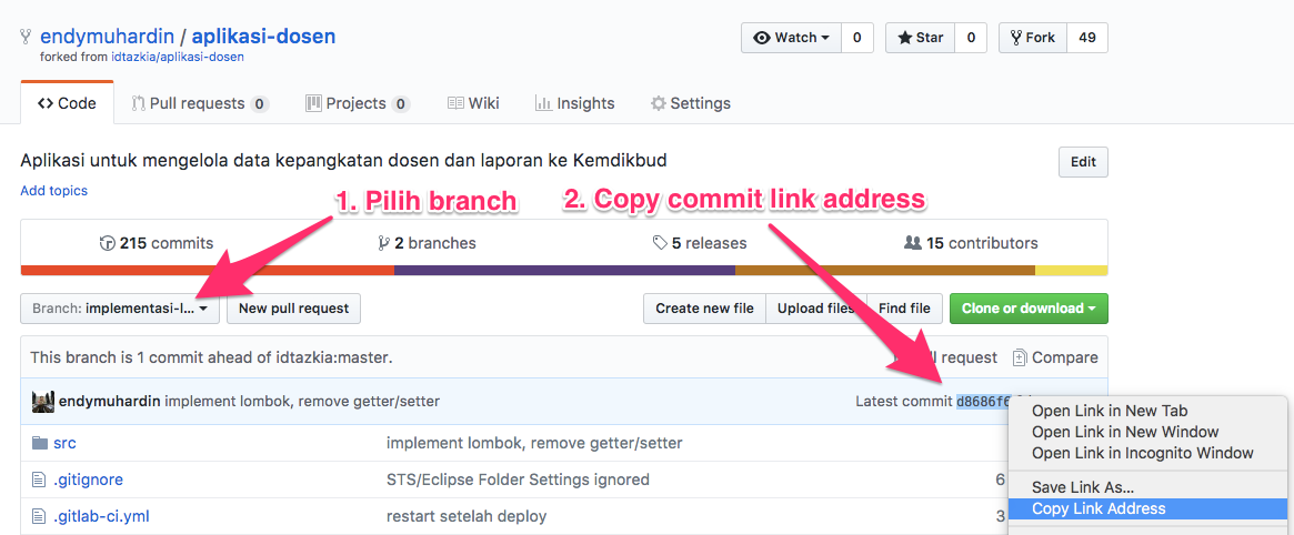 Link Commit