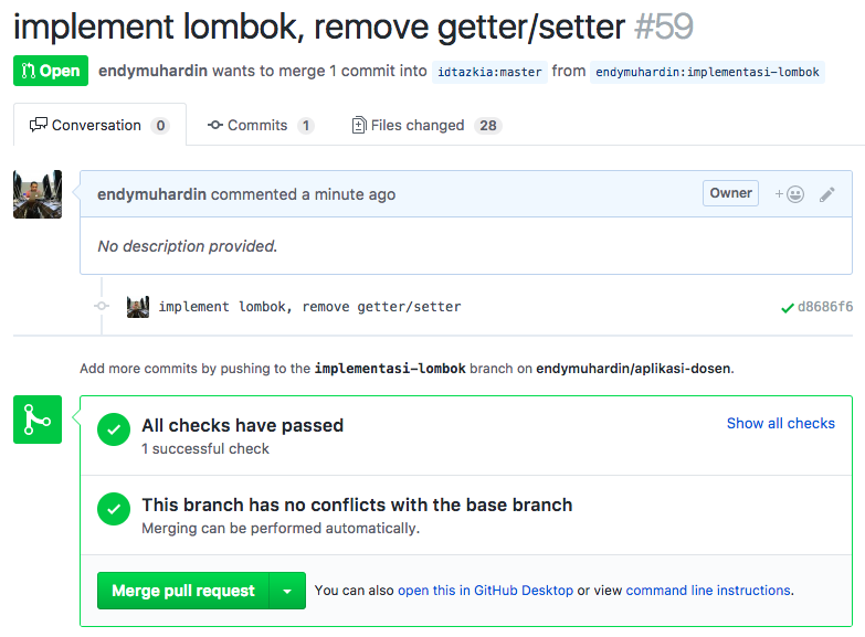 Detail Pull Request