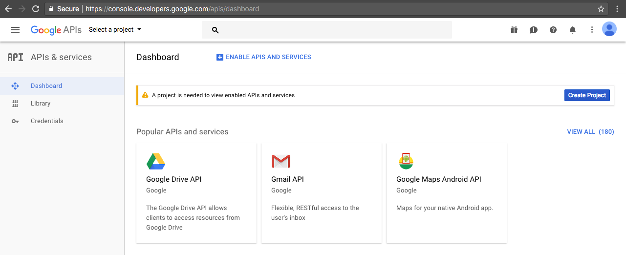Mengirim email dengan gmail api living life and make it better - Google developper console ...