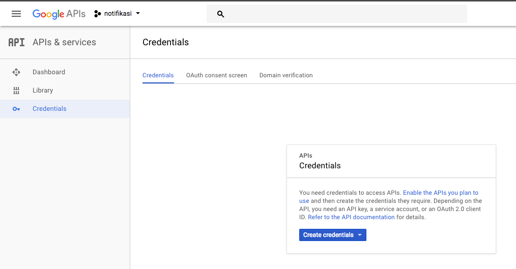 Create Credential