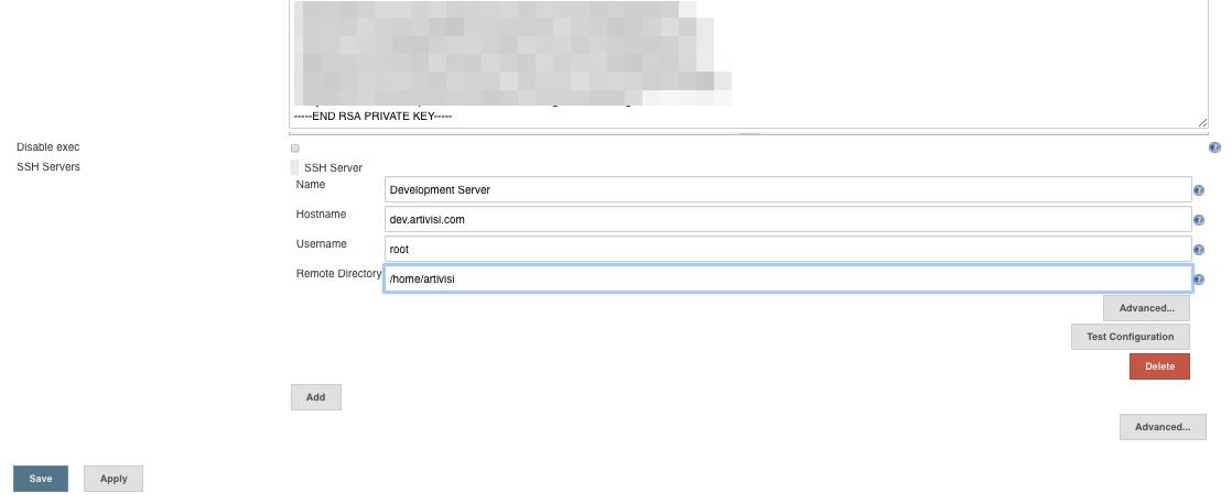 Konfigurasi Server Tujuan