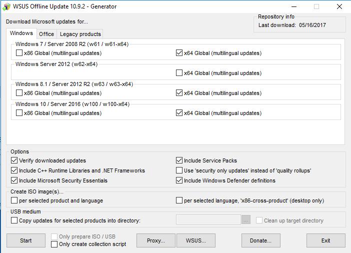 WSUS Downloader