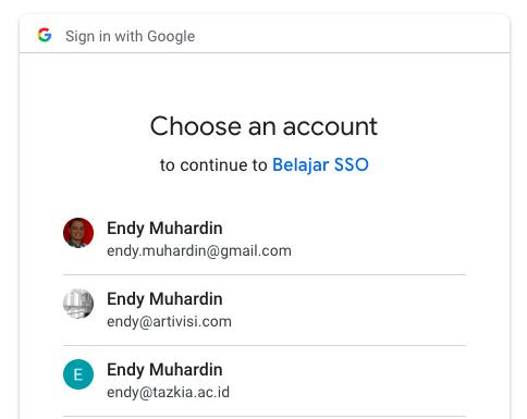 Pilihan Google Account
