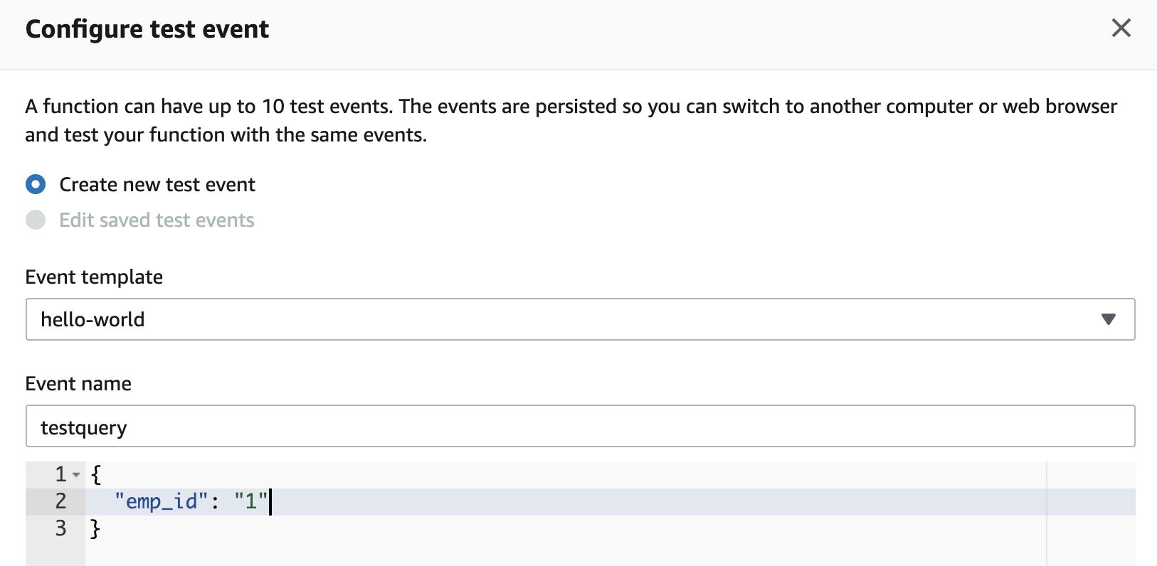 AWS Lambda Test