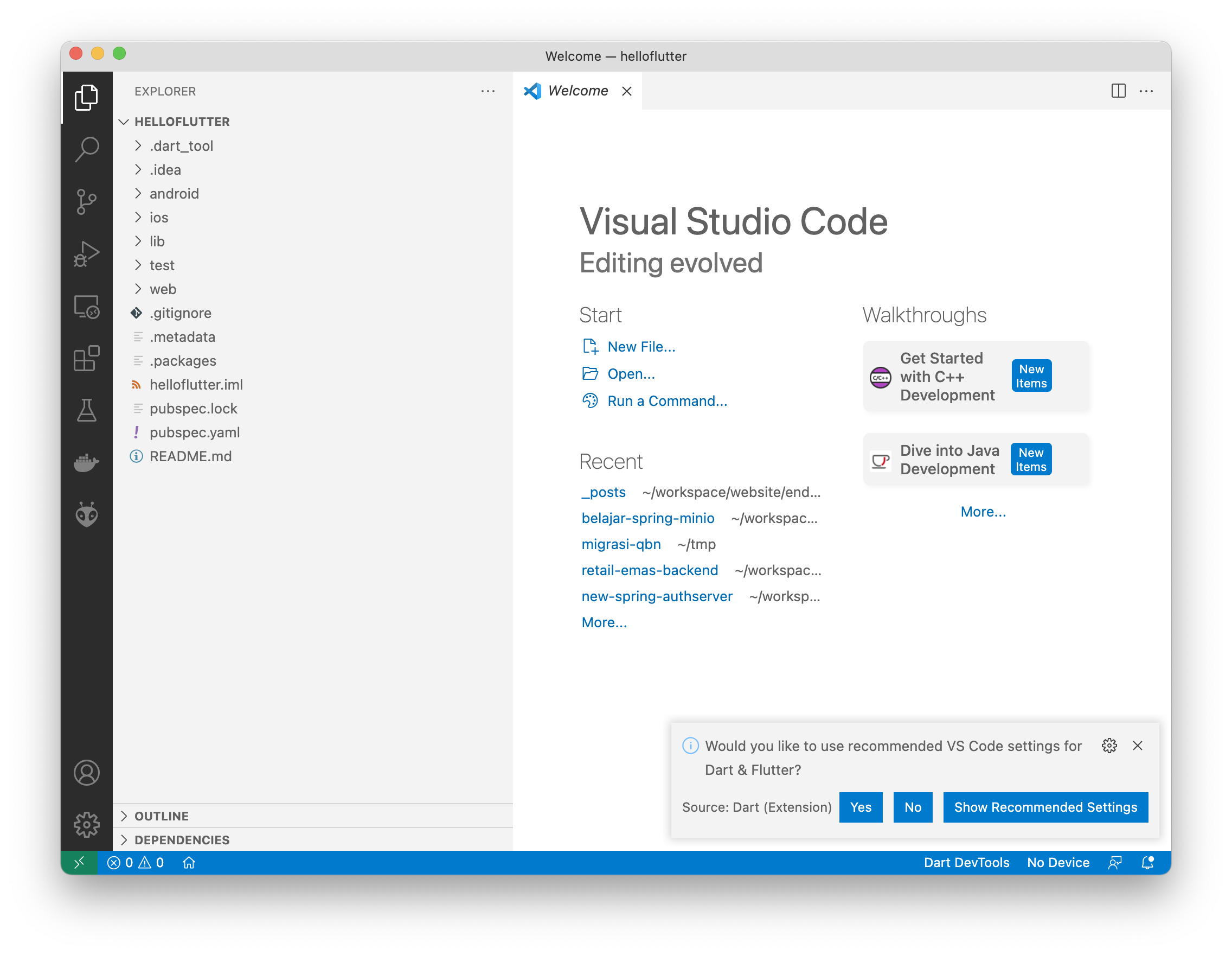 Open Project VSCode